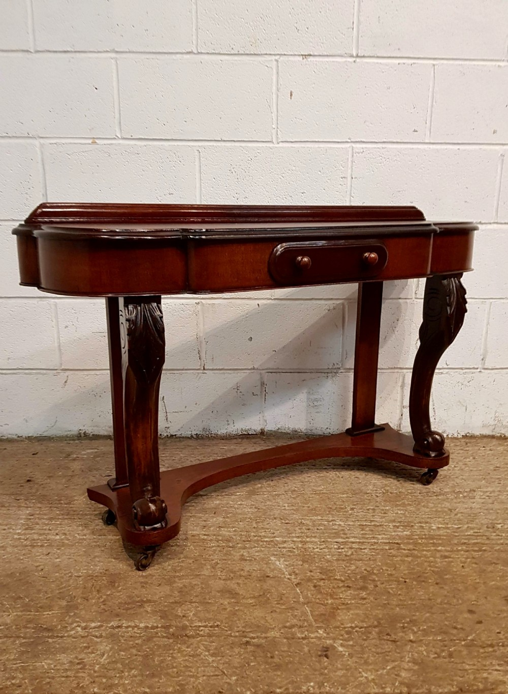 antique victorian mahogany duchesse console table c1880