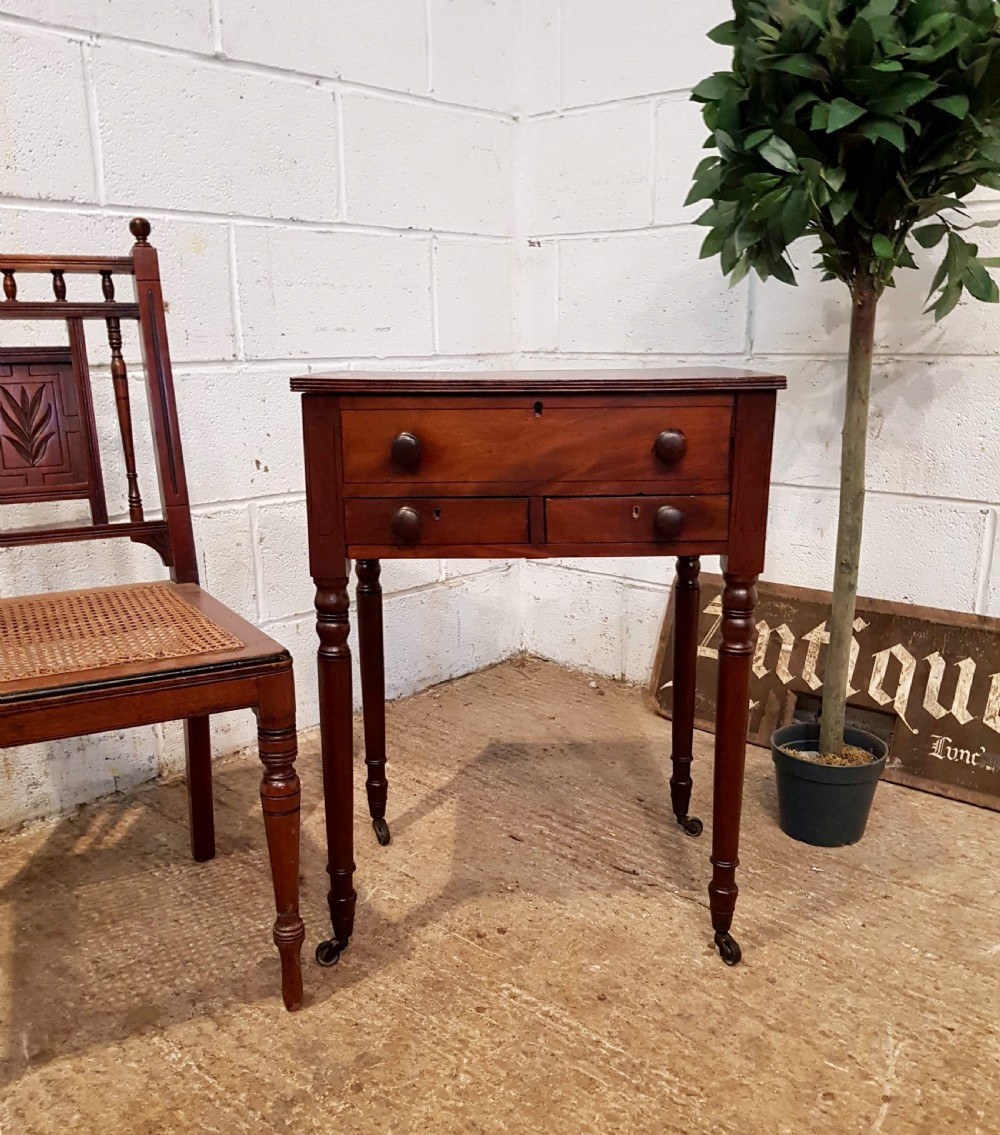 antique regency mahogany side work table c1820