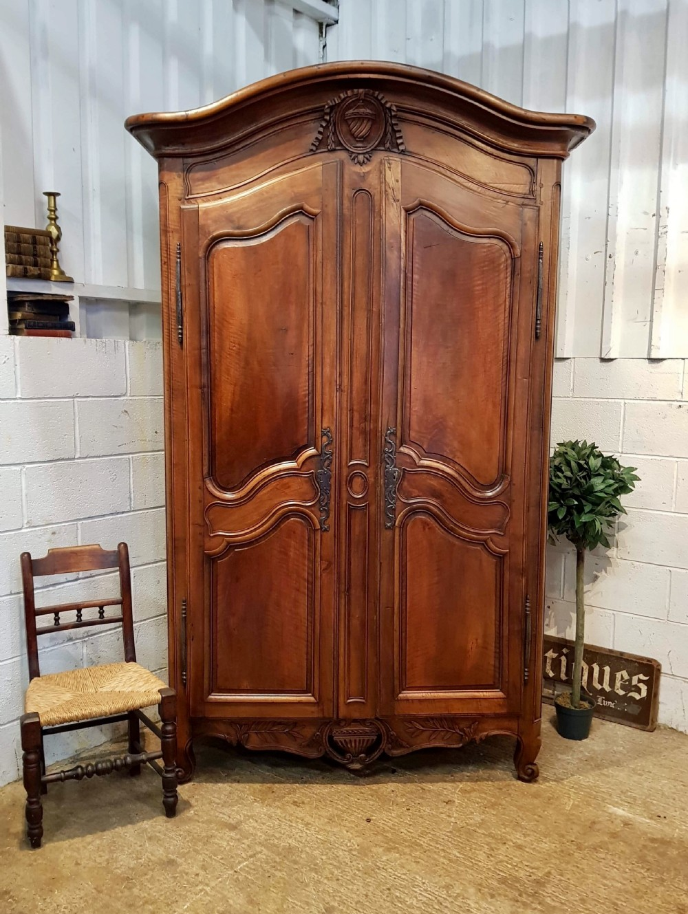 antique 18th century french chestnut armoire c1780