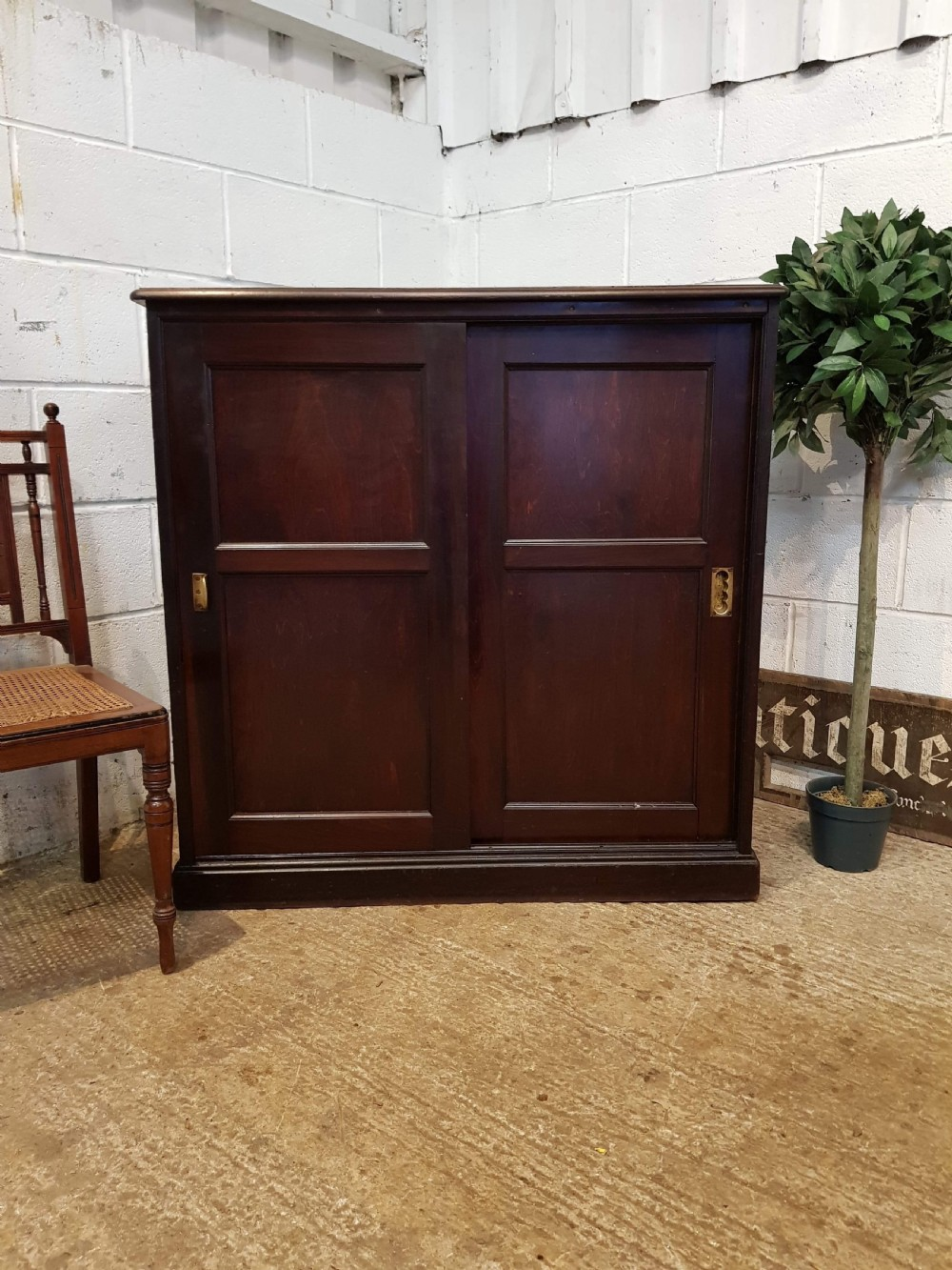 antique late victorian mahogany cupboard c1890