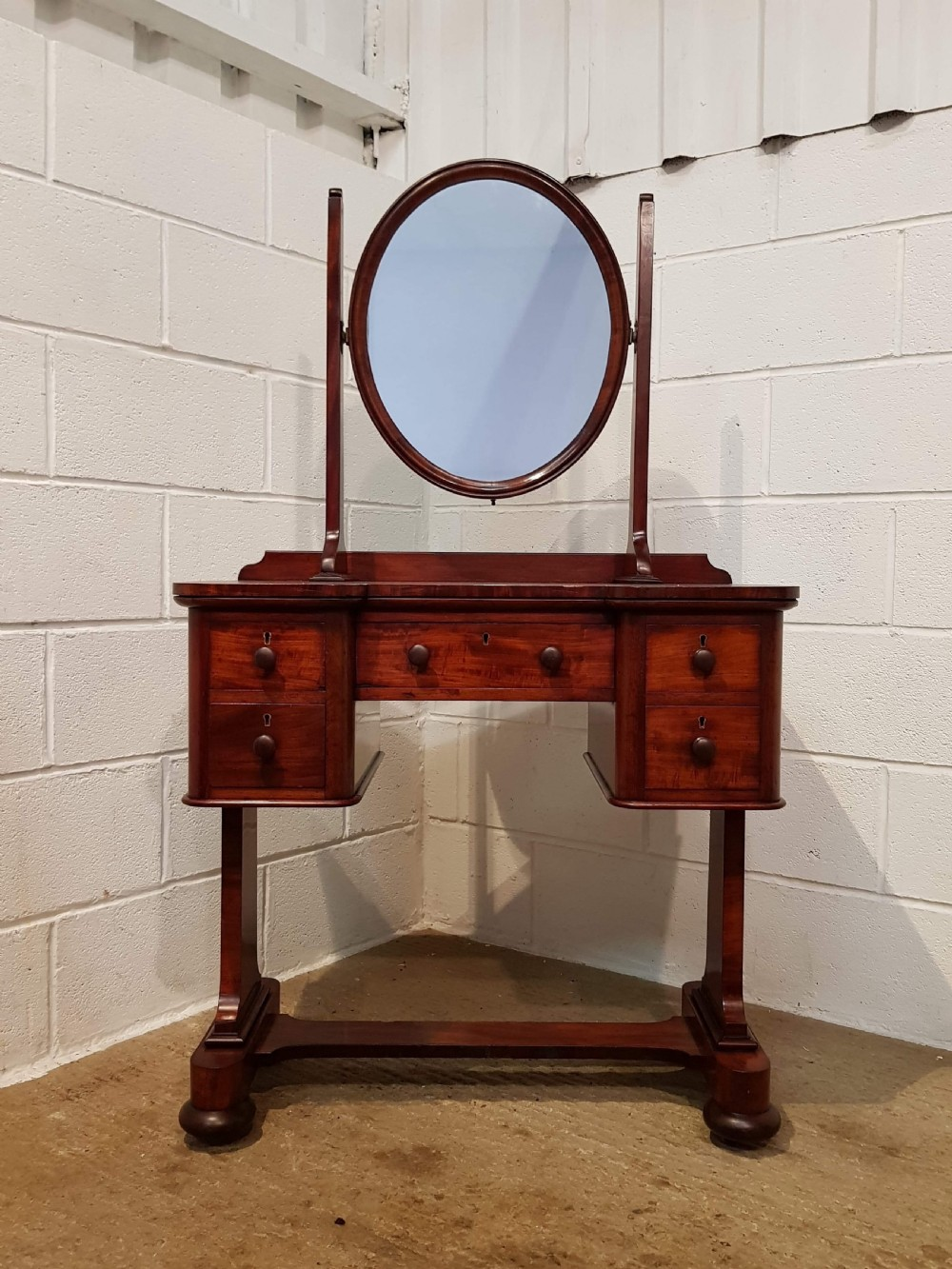 antique small victorian mahogany dressing table c1880